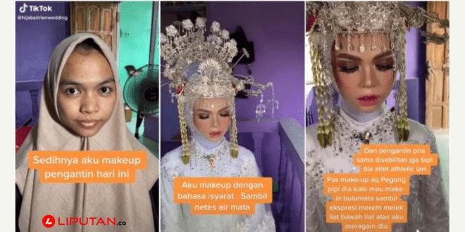 Viral Kisah Haru MUA Rias Pengantin Tunarungu, Make Up dengan Bahasa Isyarat - liputan.co