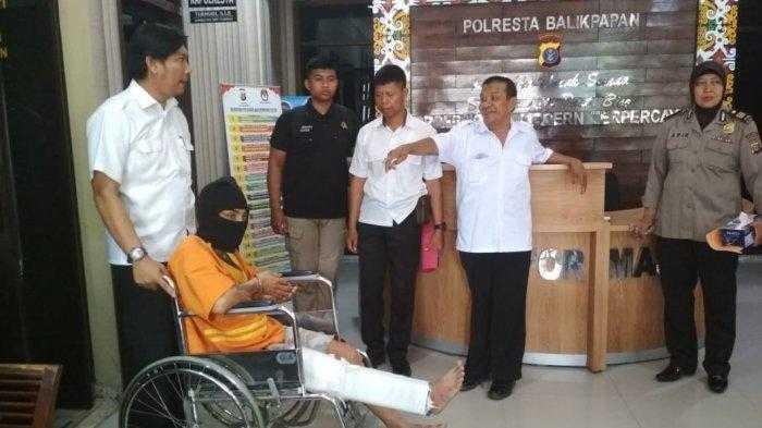 Zahiruddin (33), tersangka penikaman janda, ditangkap polisi.