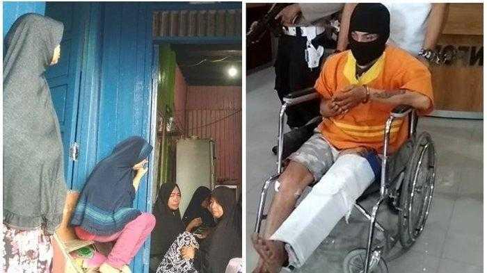 Zahiruddin (33) warga Karang Anyar Balikpapan Barat ditangkap Tim beruang hitam Polresta Balikpapan usai menghabisi nyawa kekasihnya